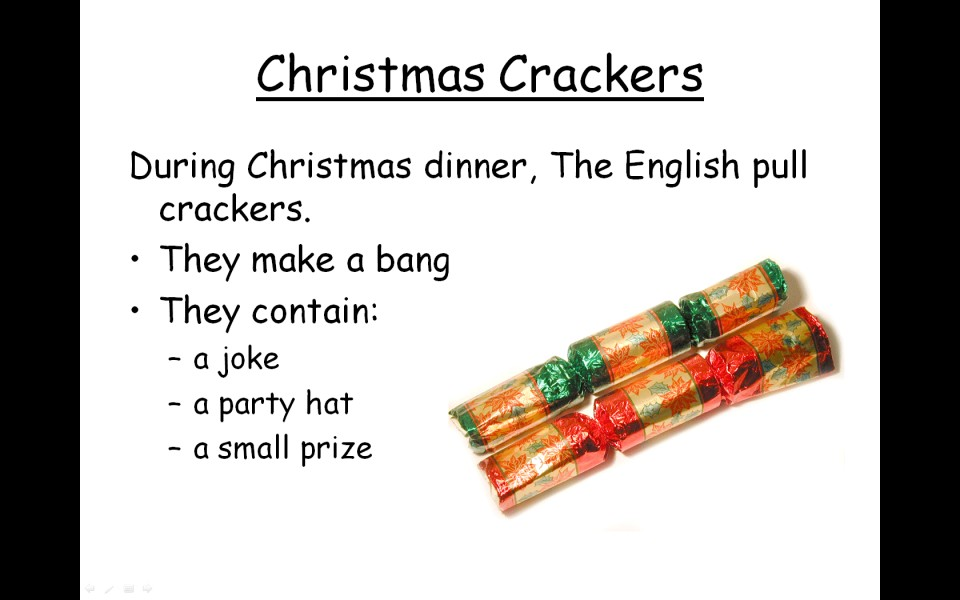 slide from one of the presentations in Christmas around the world ...